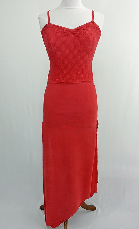 Long Red Lace Dress - 40241