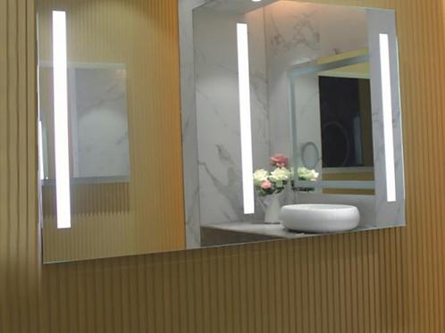 Rectangular Frameless Lighted Mirror