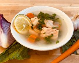 Junior's Bistro Shrimp & Salmon Soup