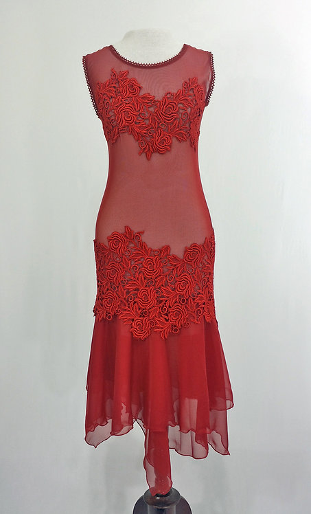 Red Lace Dress - 42541