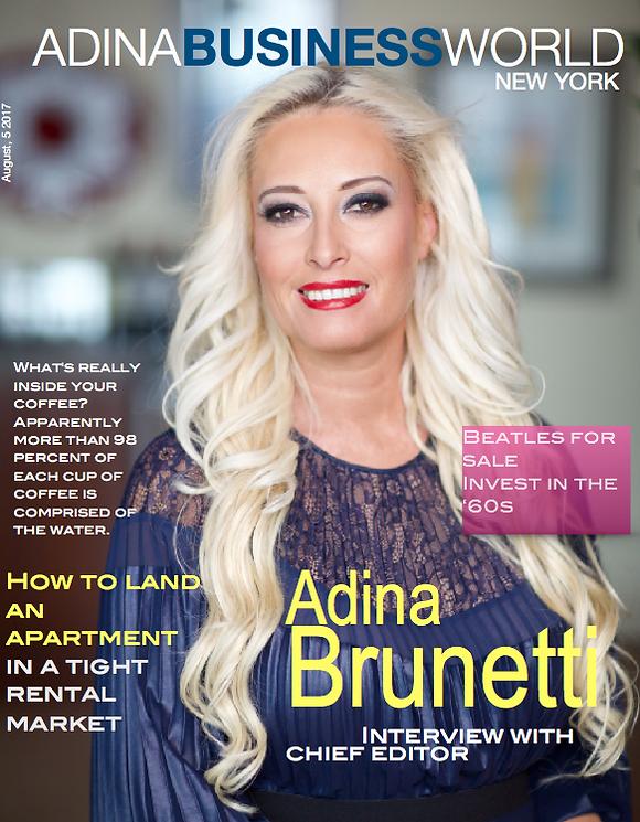 Adina Brunetti Magazine Cover