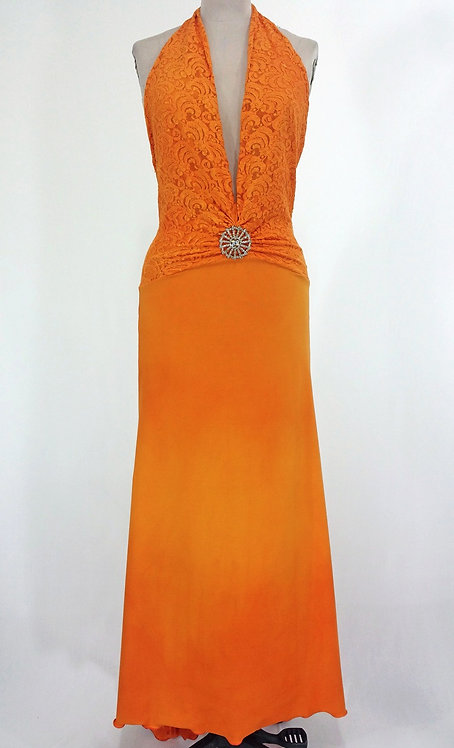 Sunshine Orange Lace Dress - 4026