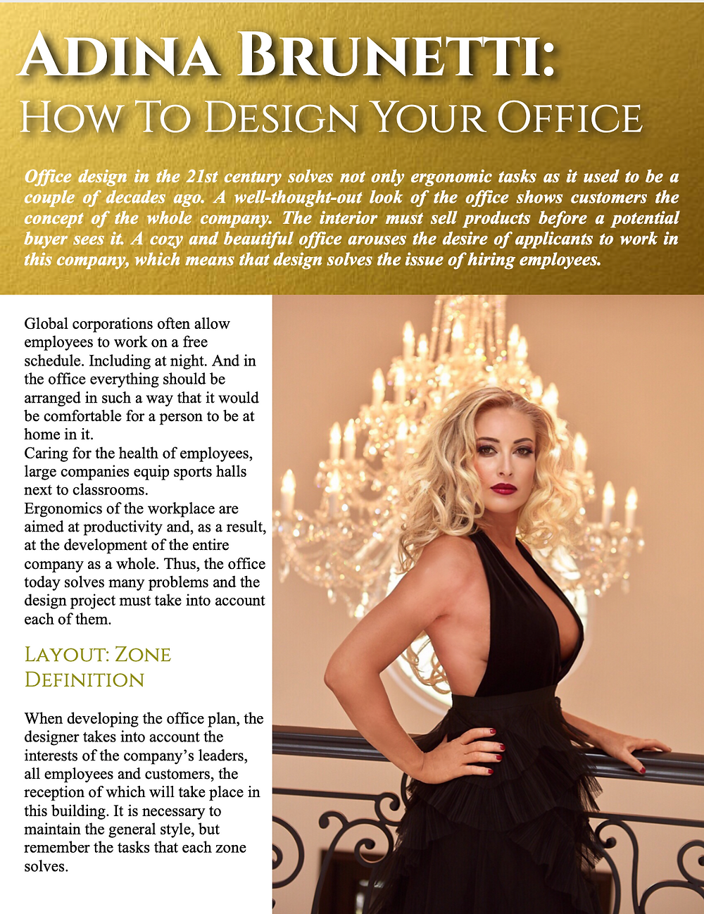 Adina Brunetti: How To Design Your Office Space