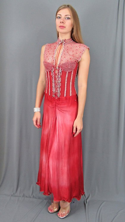 Game of Thrones Inspired Red Gown With Corset - 4075