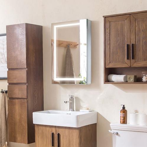 Demister Bedroom Lighted Mirror Cabinet