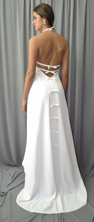 White Gown Dress - 4162