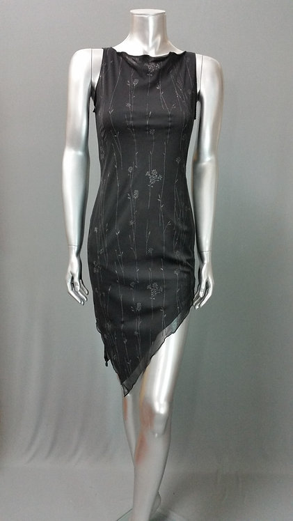 Black Chameuse Dress - 6005