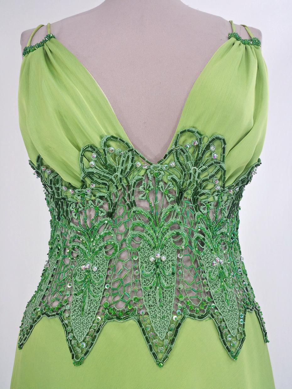Long Green Gown