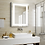 Thumbnail: Demister Bedroom Lighted Mirror Cabinet