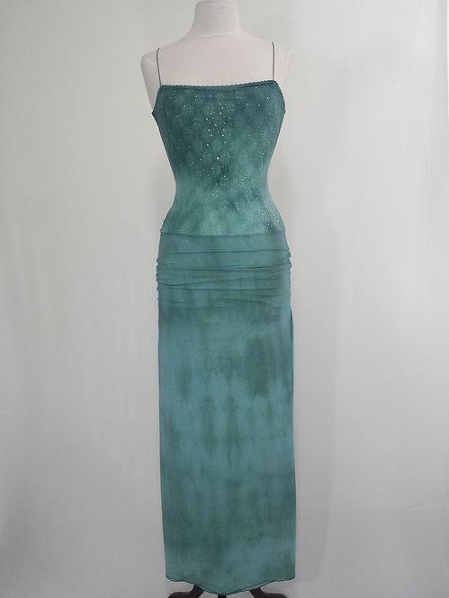 Long Green Lace Dress - 4024