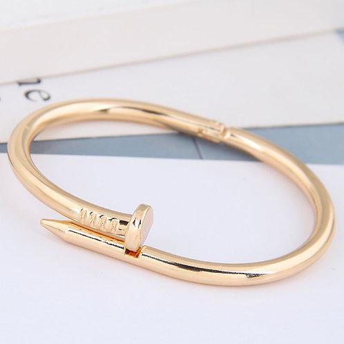 gold nail inspired bracelet women's jewelry