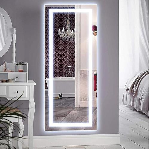 LED Frameless Lighted Full Length Mirror