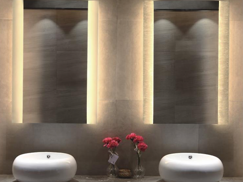 Home Wall Frameless Lighted Mirror