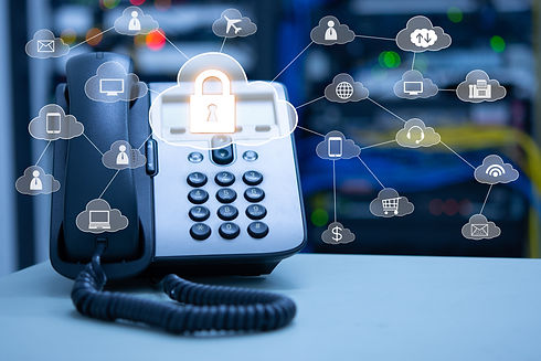 IP Telephony cloud services concept, ip
