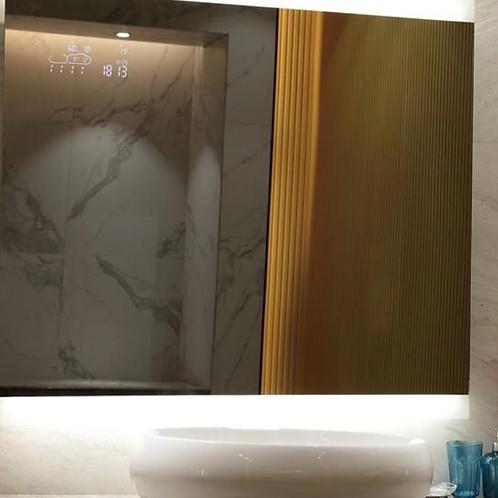 Decorative Demister Frameless Lighted Mirror