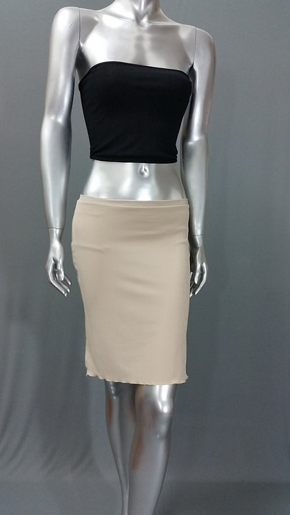 Tan Pencil Mini Skirt - 2018