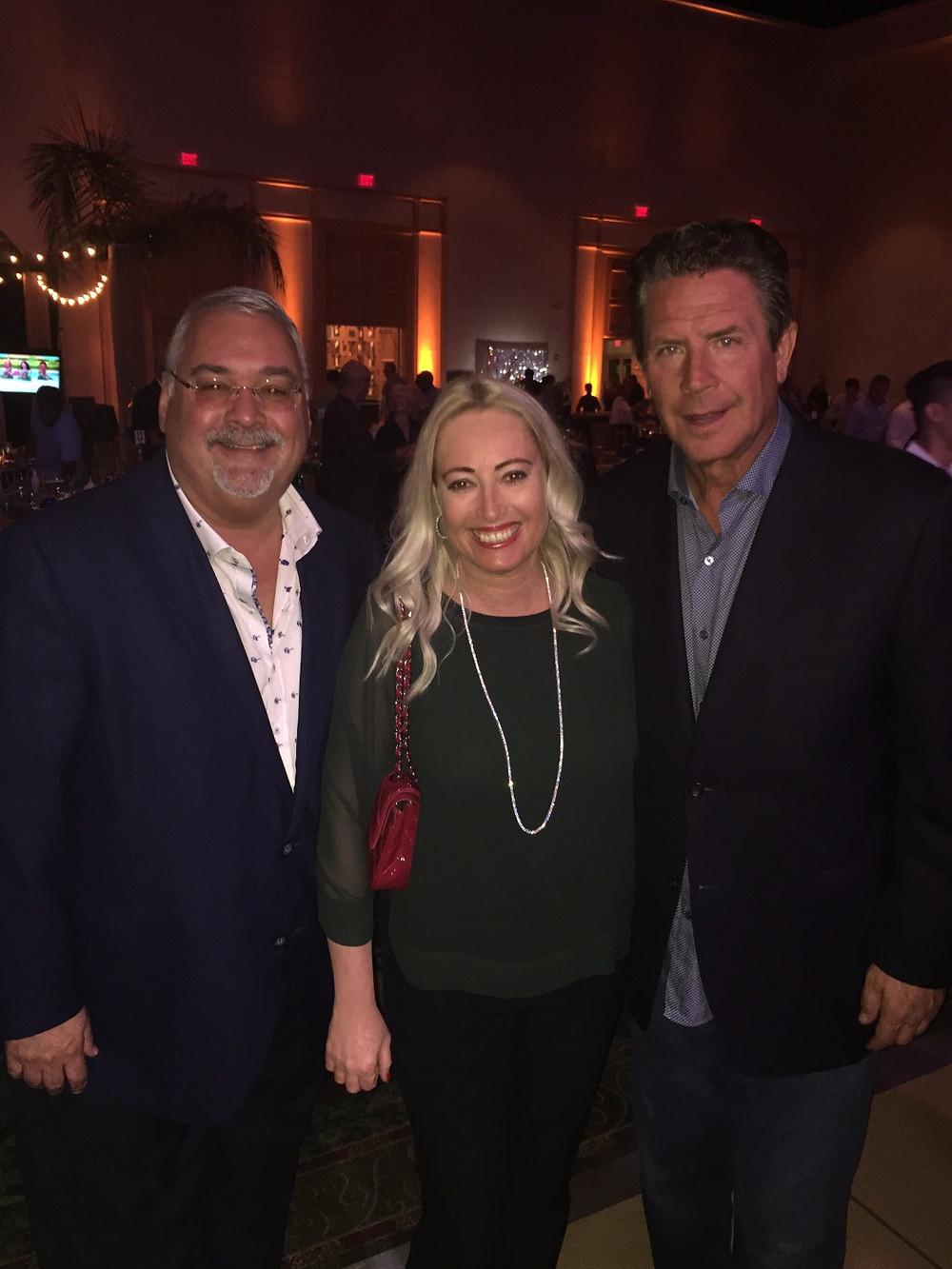 John Brunetti Jr., Adina Brunetti and Dan Marino