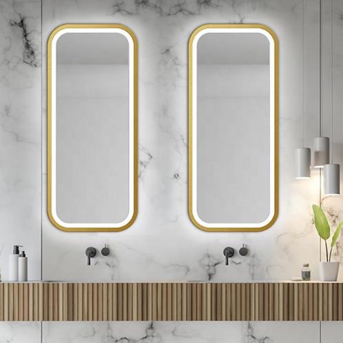 Wall Framed Lighted Full Length Mirror