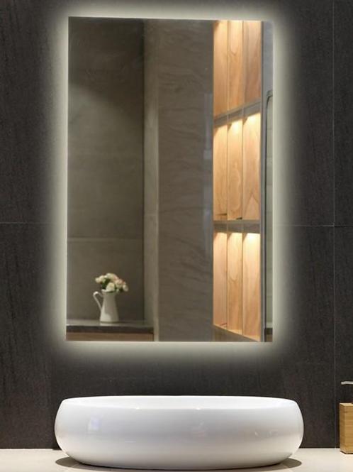 Hotel Anti Fog Frameless Lighted Mirror