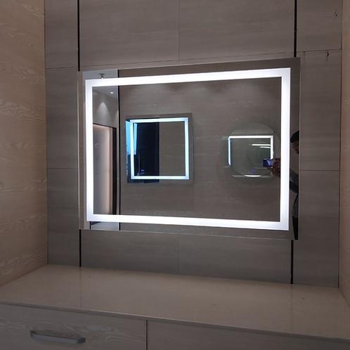 Makeup Bath Frameless Lighted Mirror