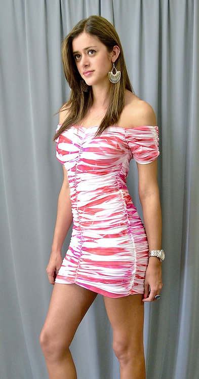 White and Pink Dress - 3349