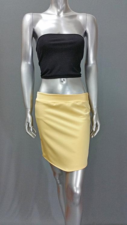 Gold Short Skirt - 2999-1