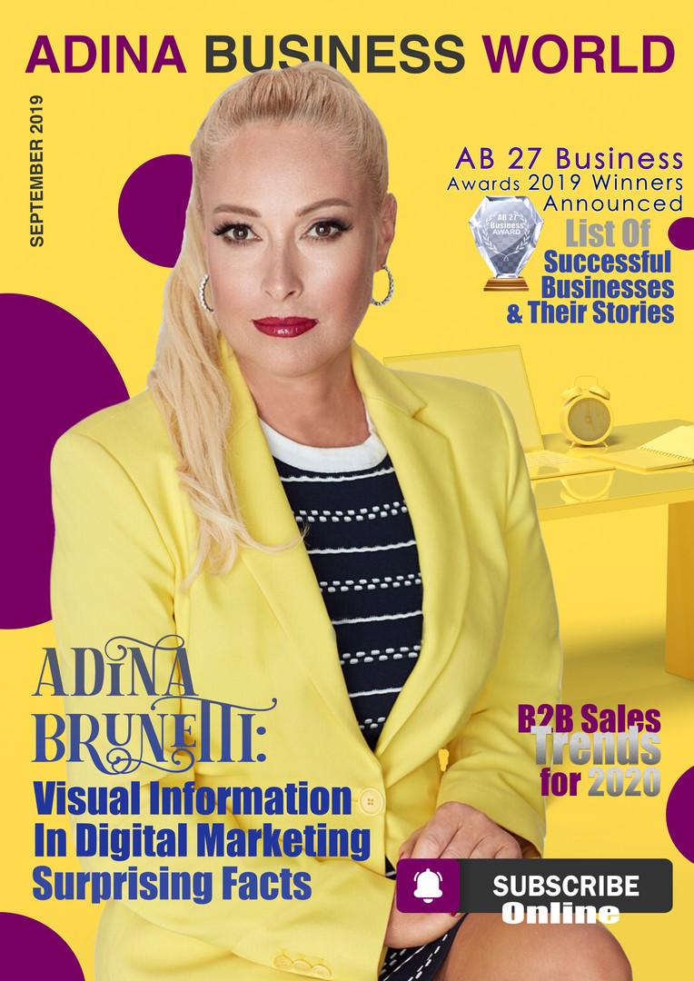 Adina Brunetti on ABW Cover