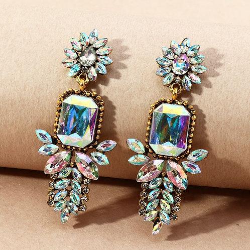 Zircon chandelier diamond earring