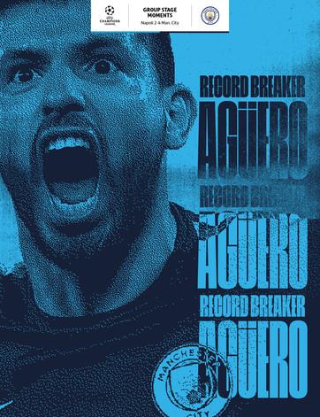 Aguëro becomes club record scorer