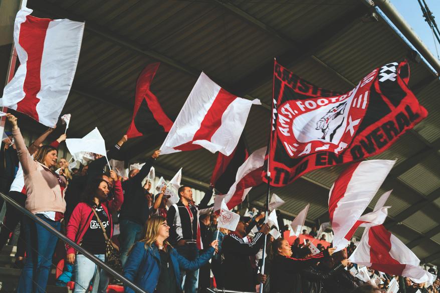 Ajax fans get behind their team against Lyon