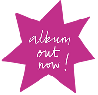 Star burst saying 'Album out now!'