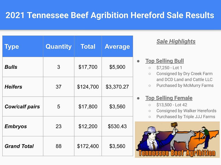 2021 Tennessee Beef Agribition Hereford