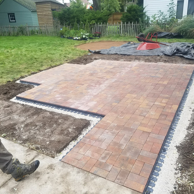 Paver patio in Whitefish Bay