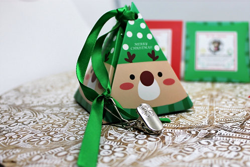 3 HOLIDAY ORNAMENTS filled with tasty treats