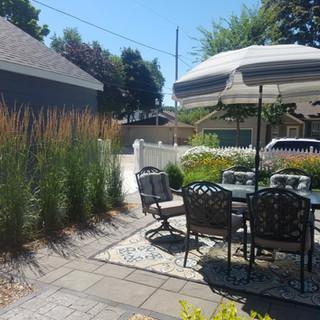 Backyard with patio - Whitefish Bay