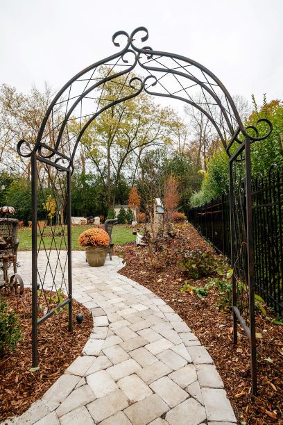 Historic Greendale Design Install - looking thru the arbor