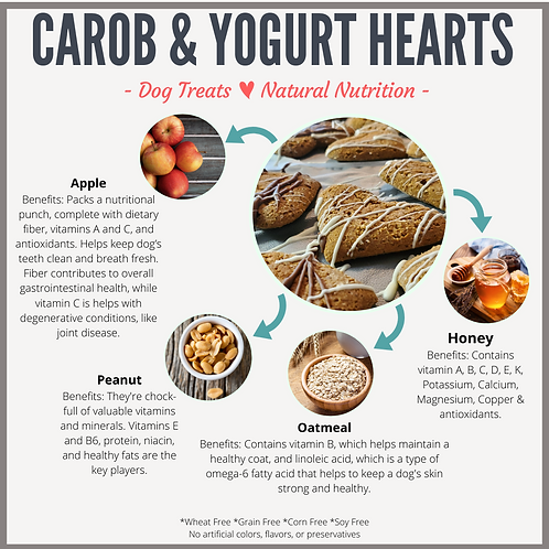 Carob & Greek Yogurt Peanut Butter Hearts
