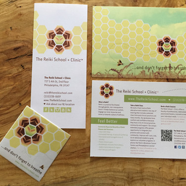 The Reiki School + Clinic - Brochure, Postcard and Sticker