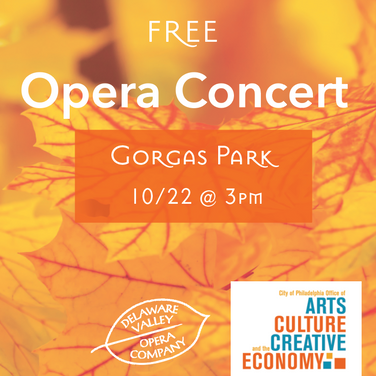 Delaware Valley Opera Company - Concert in the Park Series Flyer