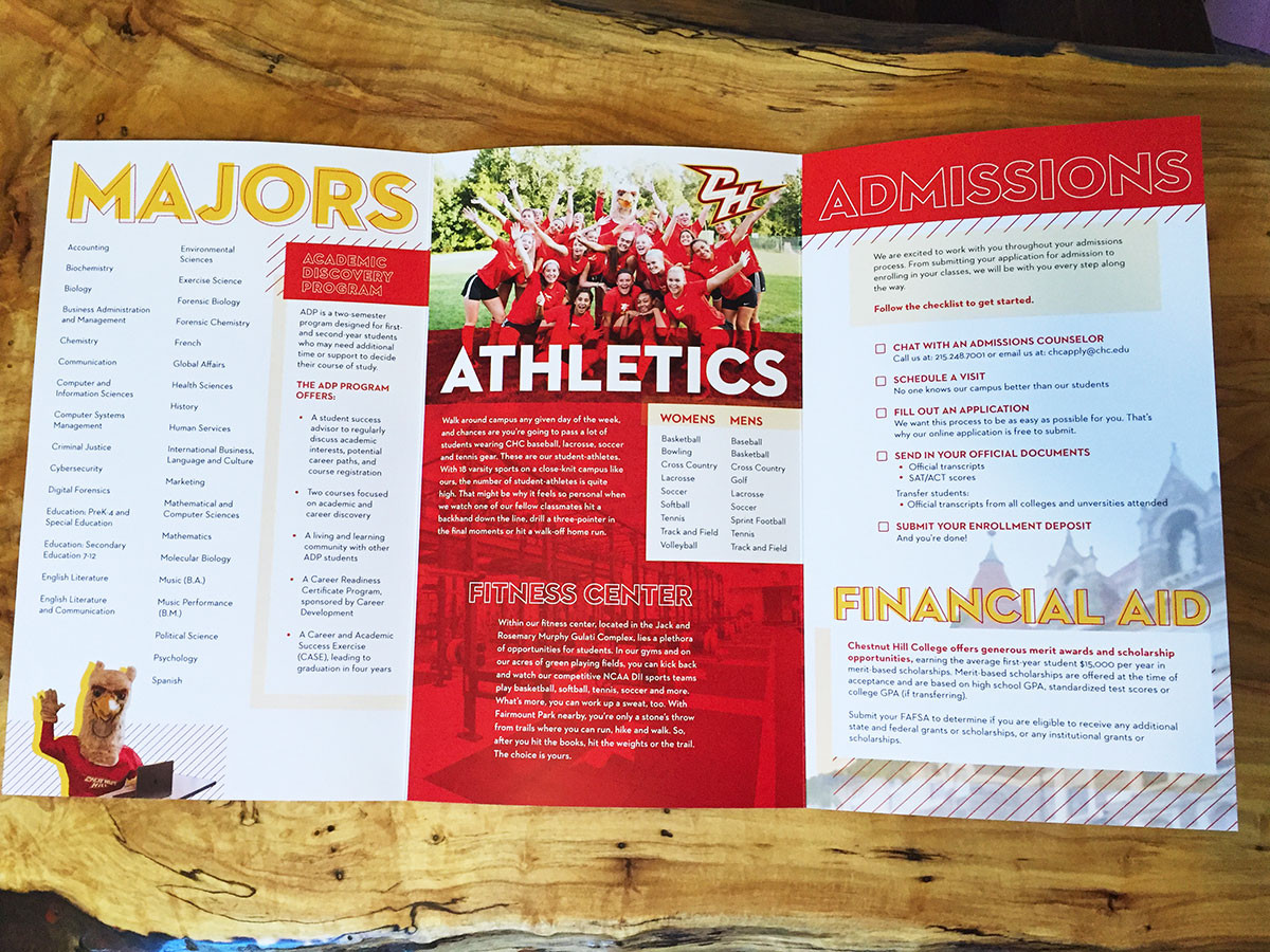 Chestnut Hill College - Trifold Inside