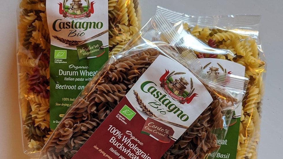 Organic dried buckwheat wholegrain fusilli pasta 500g