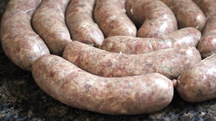 Moorcock pork & garlic sausages x 4 (Frozen)