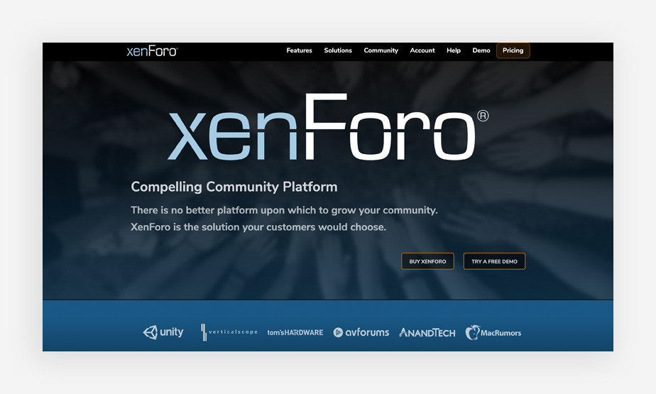 xenForo Forum Software