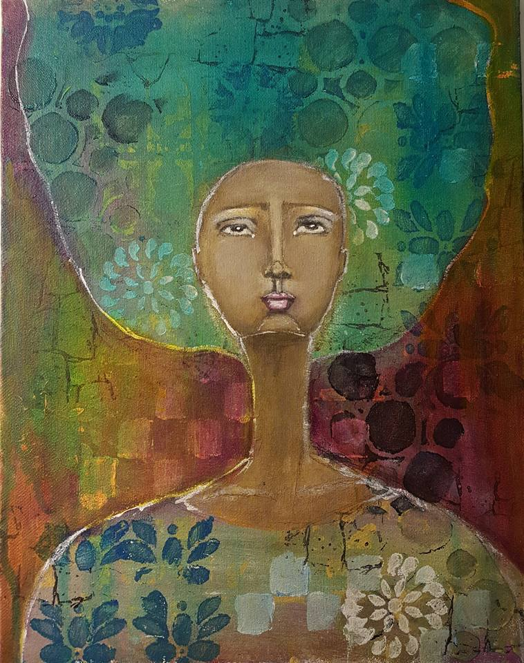 Ofelia_9x12 acrylic on canvas board