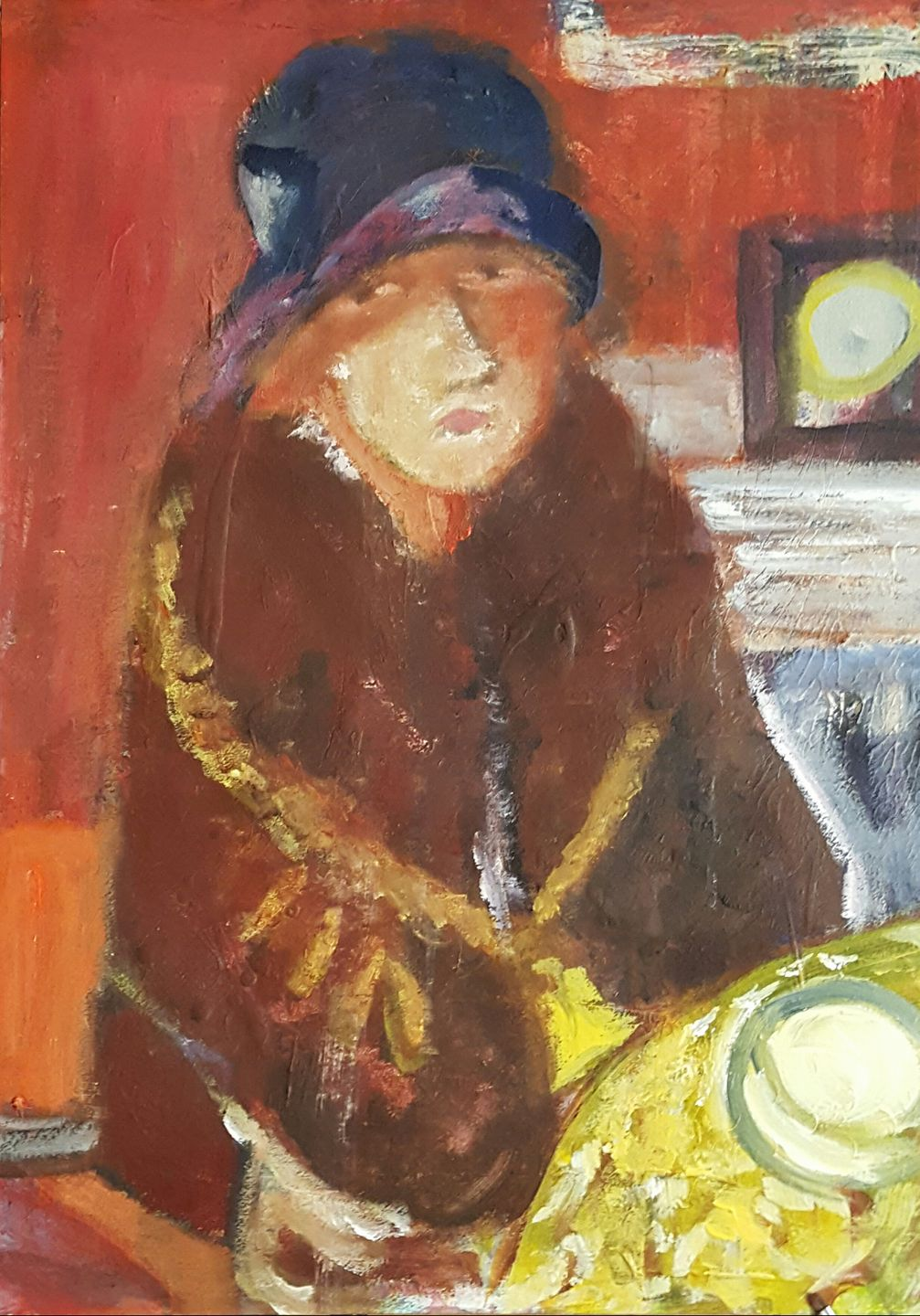 untitled_study on Bonnard_18x24 acrylic on paper