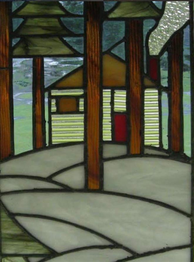Flynn staindglass house woods