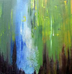 Flynn acrylic canvas Waterfall