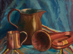 Copper Study No. 2 with Horn
