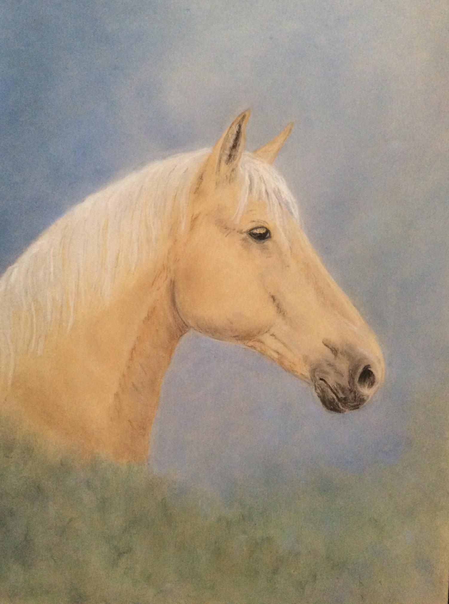 RA blonde horse