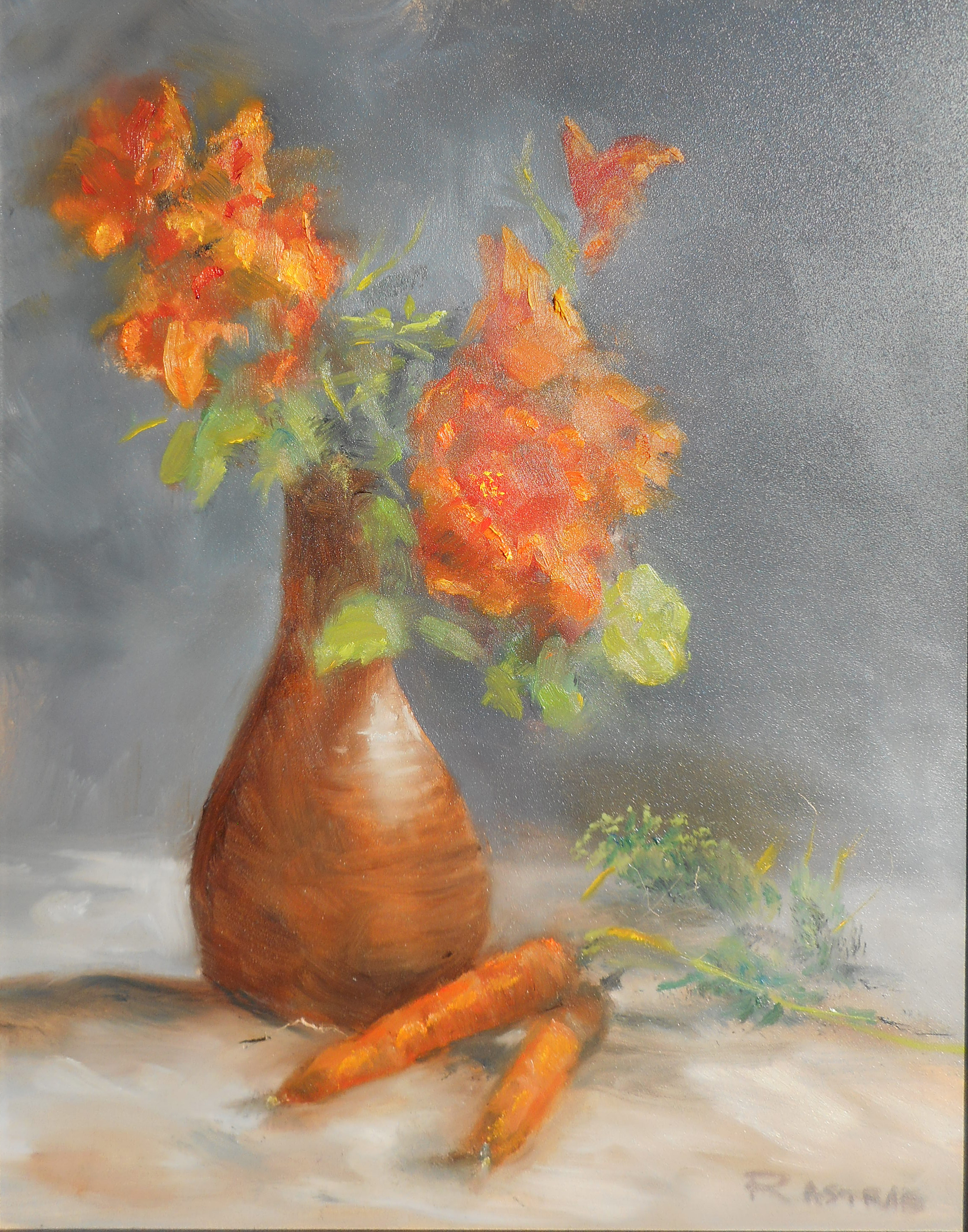 ASTRAB Still Life with Carrots 11x14